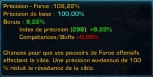 La précision de Force du Jedi Consulaire Ombre