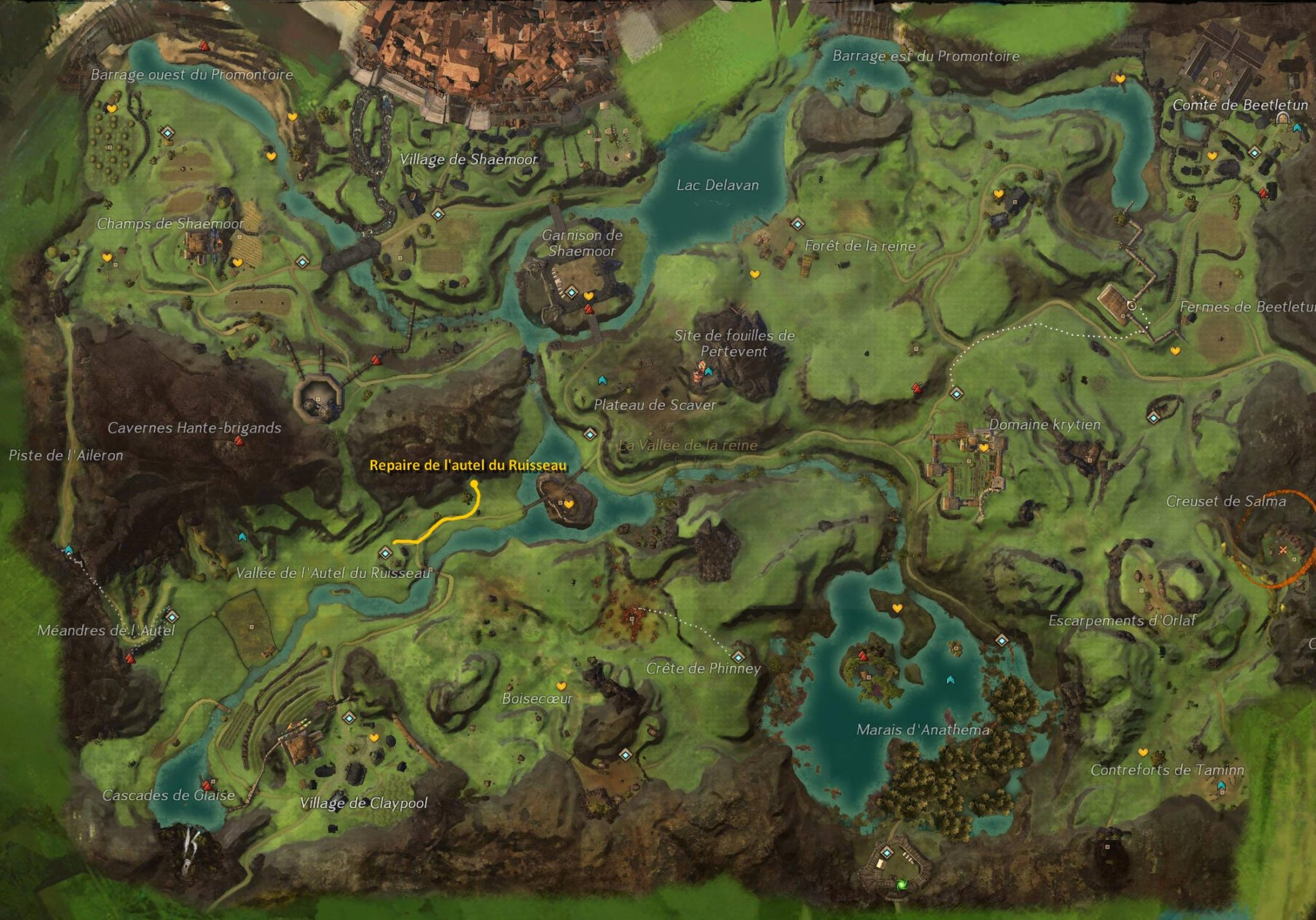 Diessa Plateau Region Map By Guildwars Deviantart Fondos De Pantalla