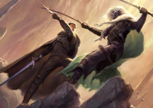 Artemis_and_Drizzt_-_Todd_Lockwood