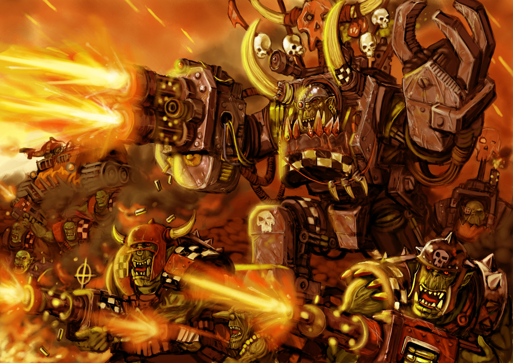 [W40K] Collection d'images : les Xenos - Page 6 Orks_attack3