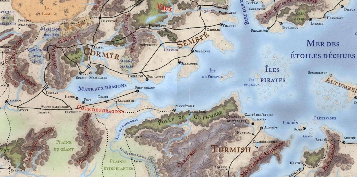 Situation géographique des contrées du Grundan dans les royaumes oubliés C%C3%B4te-des-dragons