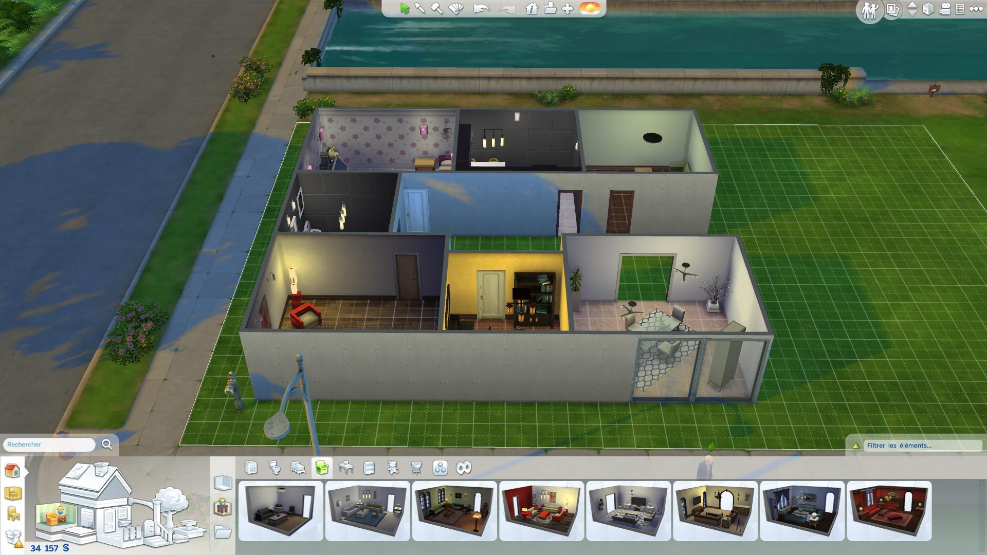 sims 4 maison de luxe interieur. Black Bedroom Furniture Sets. Home Design Ideas