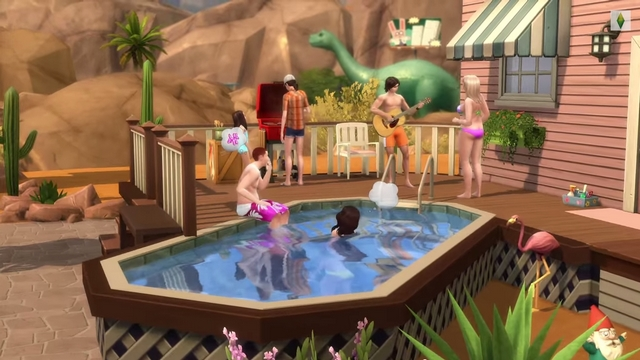 Les sims 4 a nous les piscines game guide for Belle piscine hors sol