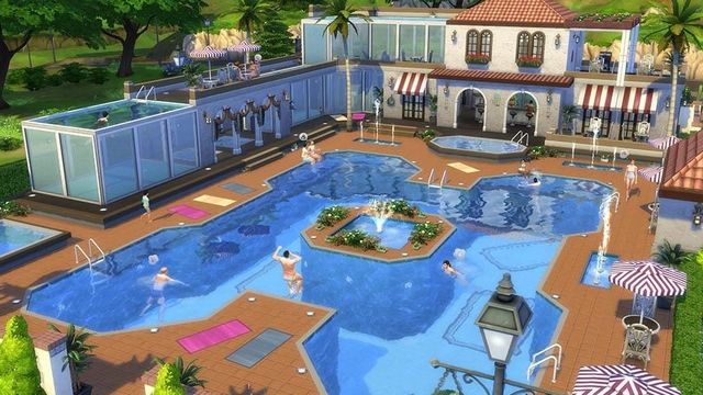 les sims 4 a nous les piscines game guide. Black Bedroom Furniture Sets. Home Design Ideas