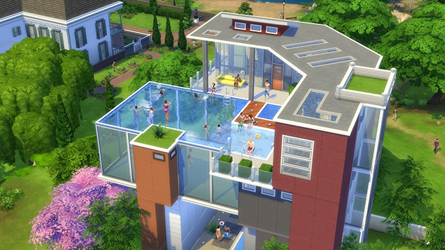 Les sims 4 a nous les piscines game guide for Pool design sims 4