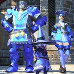 Teinture métallique Bleu