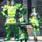 Teinture métallique verte