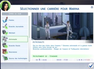 les sims 4 carri re astronaute game guide. Black Bedroom Furniture Sets. Home Design Ideas