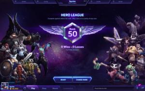 Heroes - Annonce ligue héroïque - écran du mode