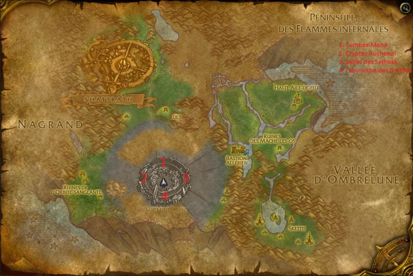 how to change zone instance wow