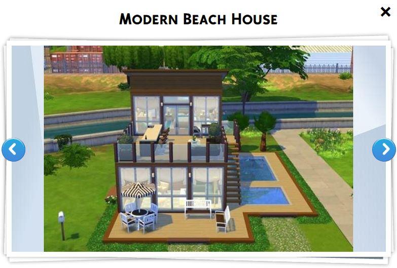 Sims 4 maison galerie ventana blog for Modele maison moderne sims 4