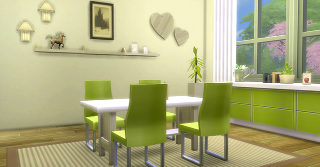 Les sims 4 quand dame nature s 39 occupe de la d co game for Salle a manger sims 4