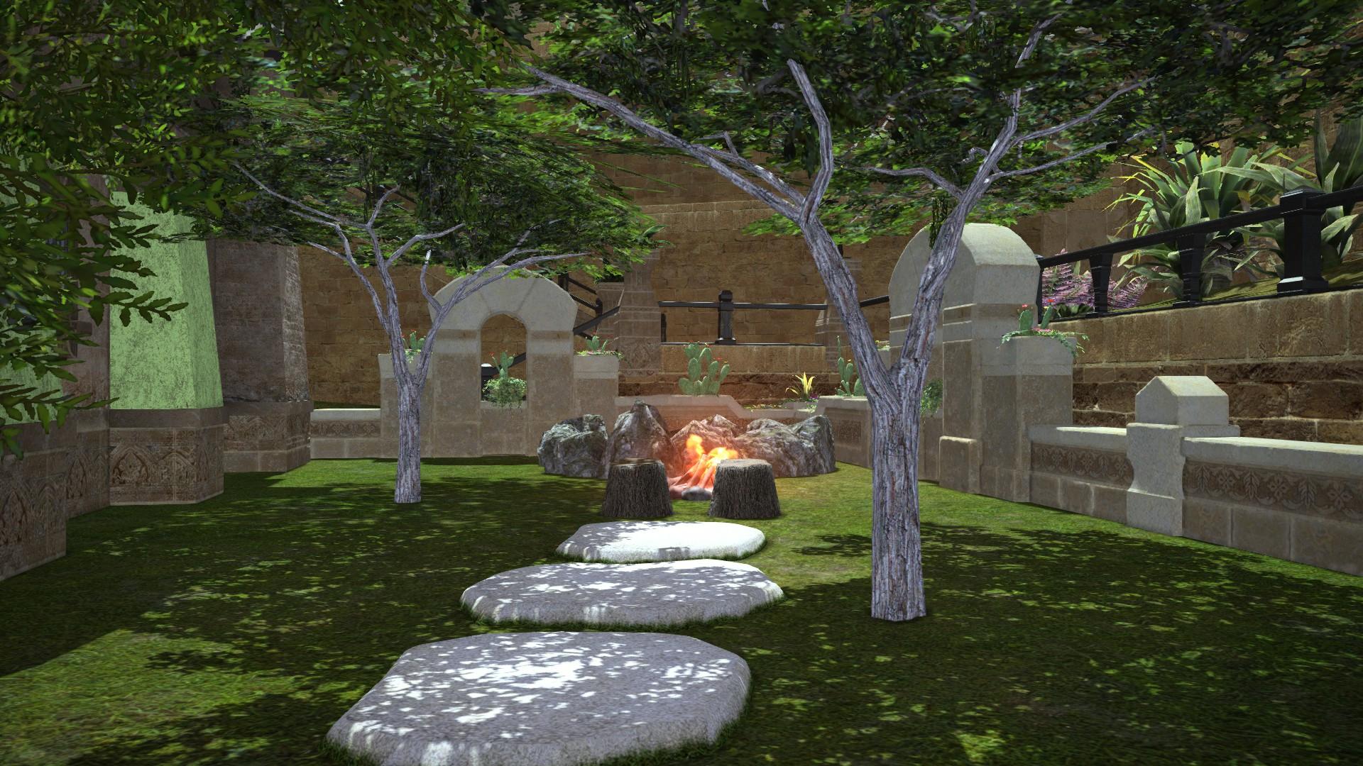 Feu de camp jardin une dcoration romantique cre partir - Autorisation de faire du feu dans son jardin ...