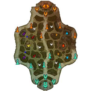 Les éventuelles wards (sentinelles) sont en bleu