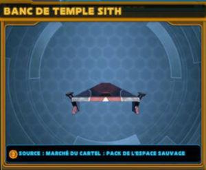 Banc de temple Sith
