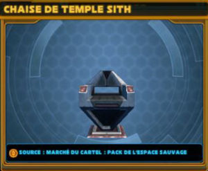 Chaise de temple Sith