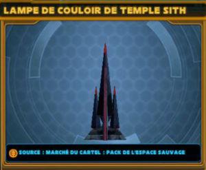 Lampe de couloir de Temple Sith