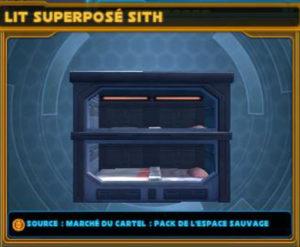 Lit superposé Sith