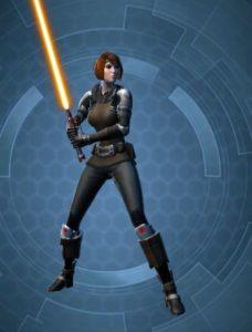 Chevalier Jedi JcJ Femme normal arme