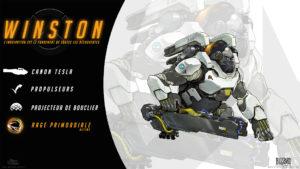 Overwatch - Fond d'écran résumé - Winston