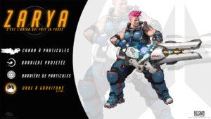 Overwatch - Fond d'écran résumé - Zarya