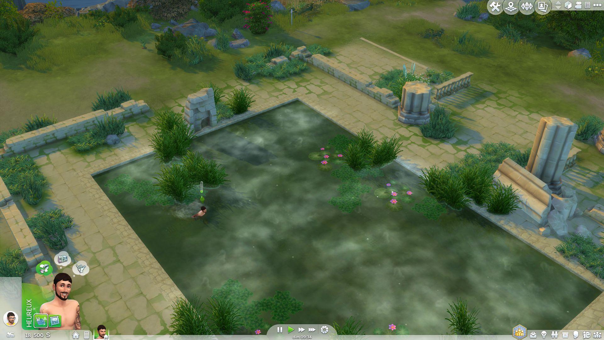 Les sims 4 vivre ensemble aper u des nouvelles for Sims 4 piscine a debordement