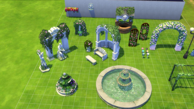 Les sims 4 aper u des nouveaux objets du kit jardin for Sims 4 jardin romantico