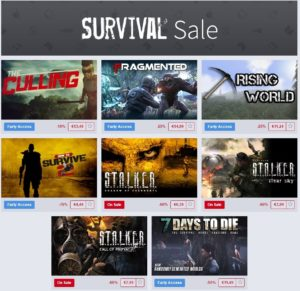 Ce WE - The Humble Store Survival Weekend