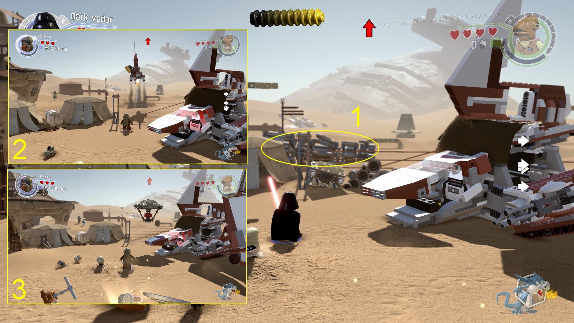 Lego star Wars - Le Réveil de la Force - Avant-poste de Niima - Brique rouge