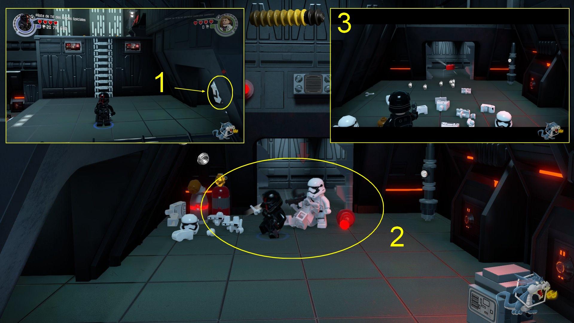Lego star Wars - Le Réveil de la Force - Détruire la base Starkiller - Brique rouge