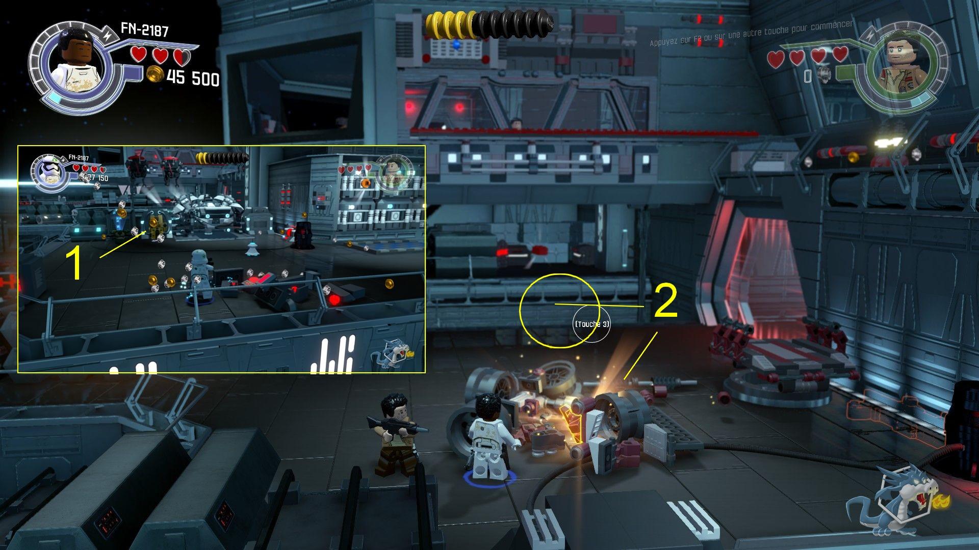 Lego star Wars - Le Réveil de la Force - Fuite du Finalizer - Brique rouge