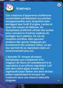 Les Sims 4 - Carte Creature Nymphaea2