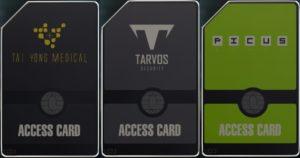 Deus Ex - Mankind Divided - Cartes d'accès