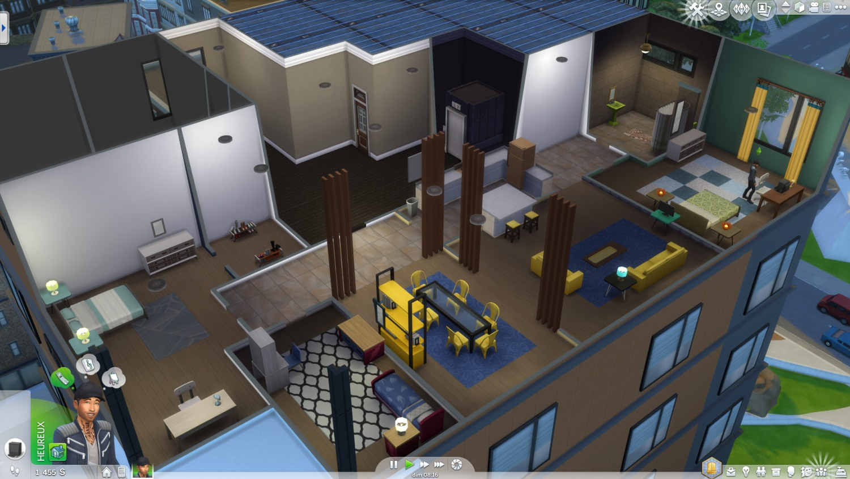 Les sims 4 pr sentation de vie citadine game guide for Deco appartement sims 4