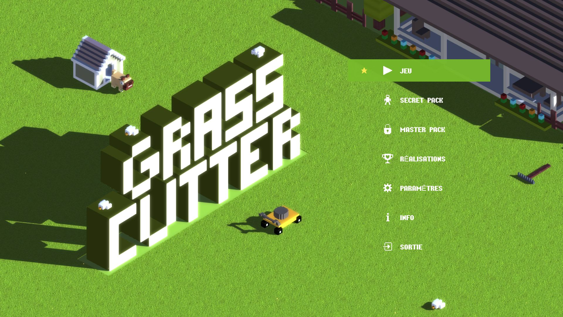 grass cutter ne tond pas la pelouse qui veut game guide. Black Bedroom Furniture Sets. Home Design Ideas
