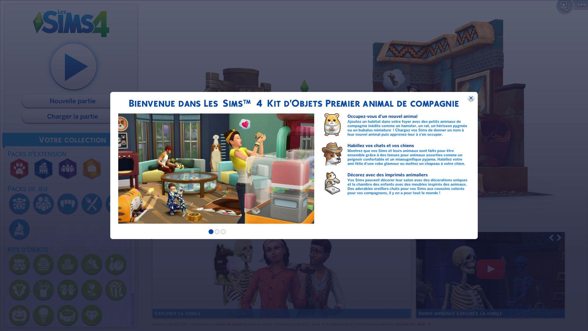 Les Sims 4 Apercu Du Kit D Objets Premier Animal De